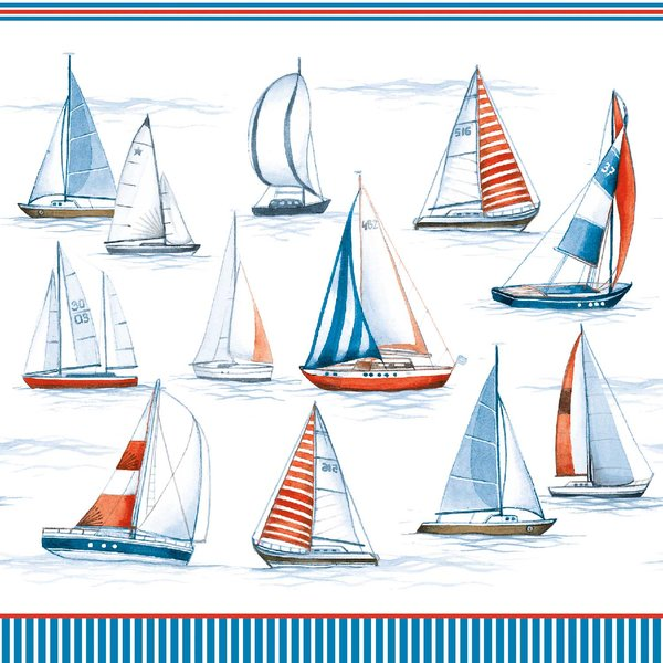 Ambiente Serviette Sailing 33x33cm 20 Stück