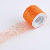 Dekovlies mit Glitter orange 5cm 10m