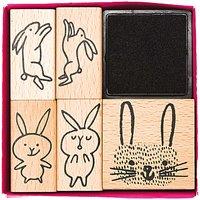 Paper Poetry Stempelset Hasen 5 Stück