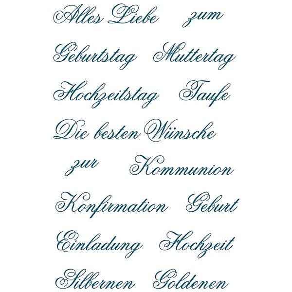 Paper Poetry Silikonstempel Familienfeste 15 Motive