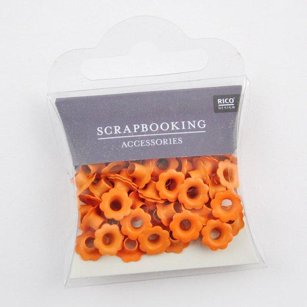 Rico Design Blumen-Ösen orange 7mm 50 Stück