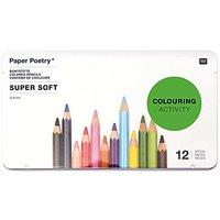 Paper Poetry mehrfarbigstifte Super Soft im Metalletui 12 Stück