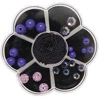 Rico Design Makramee-Glasschliffset lila 22teilig