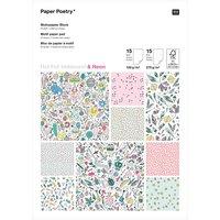 Paper Poetry Motivpapier Block Monster Party 21x29,5cm 30 Blatt
