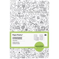 Paper Poetry Notizbuch A5 Monster zum Ausmalen 2 Stück