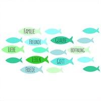 efco Wachsdekor Fische blau 8x6cm