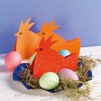 Anleitung Hühner aus Papier basteln