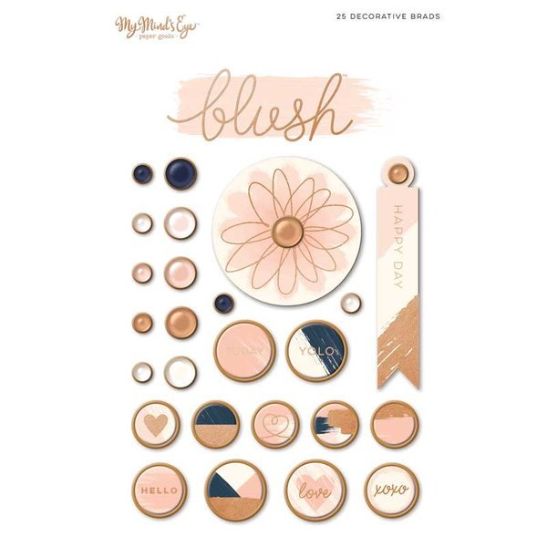 MyMindsEye Blush - Decorative Brads