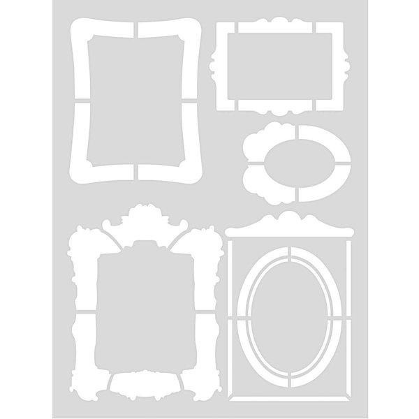 Rico Design Schablone Rahmen 18,5x24,5cm selbstklebend