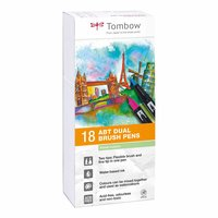 Tombow ABT Dual Brush Pen Pastellfarben 18er Set