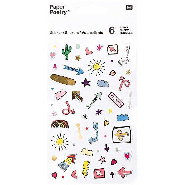 Paper Poetry Sticker Pfeile 6 Blatt