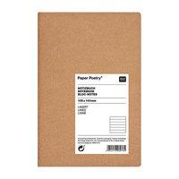 Paper Poetry Notizbuch weiß A6 Kraftpapier liniert