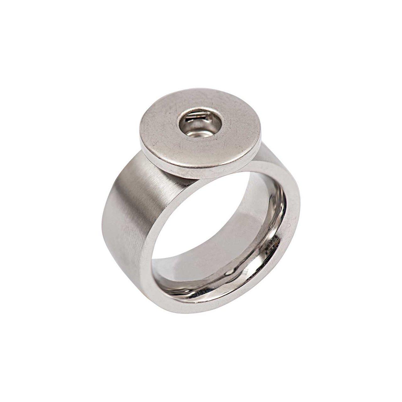 Rico Design Ring bombiert Edelstahl 17mm