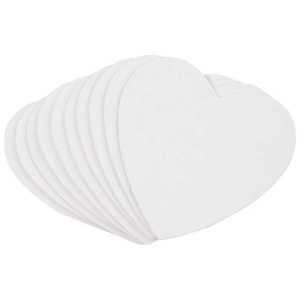 Rico Design Bierdeckel Herz weiß 10 Stück