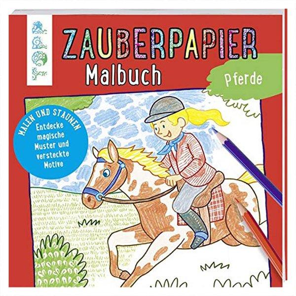 TOPP Zauberpapier Malbuch Pferde