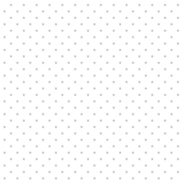 Rico Design Stoff Sterne weiß-silber 50x140cm