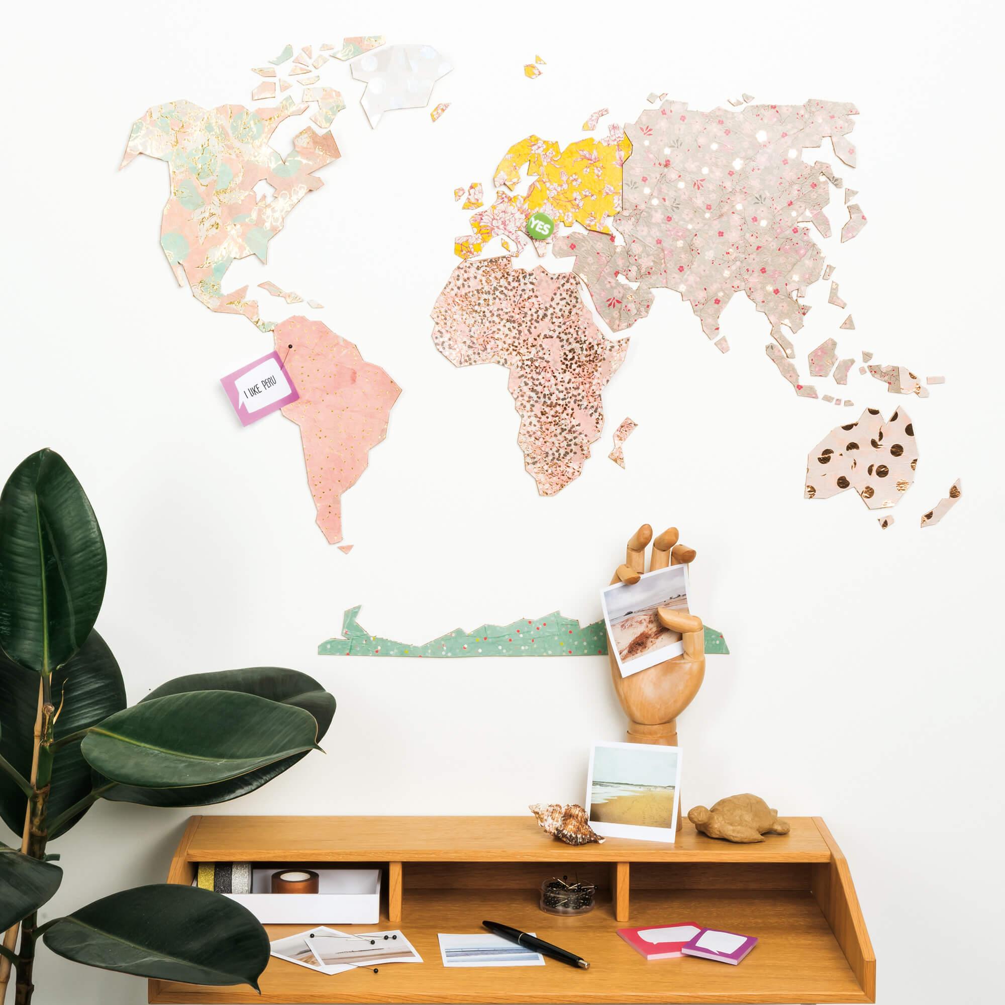 Korkpinnwand Weltkarte Gratis Anleitung Zum Selber Machen