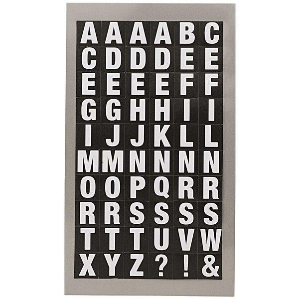 Paper Poetry Office Sticker Buchstaben weiß-schwarz 4 Bogen