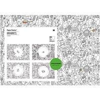 Paper Poetry Platzdeckchen zum Ausmalen 26,5x37,5cm 20 Stück