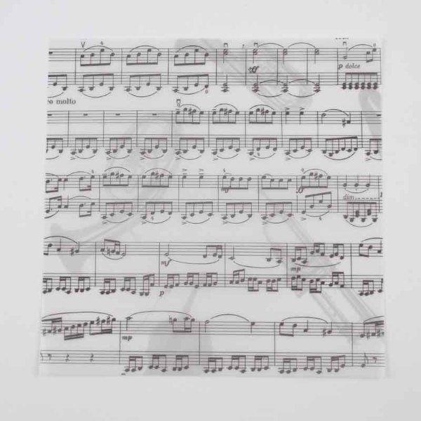 MARPA JANSEN Faltblätter transparent Noten 15x15cm 60 Blatt