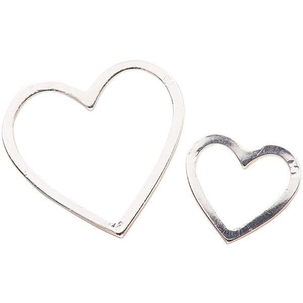 Jewellery Made by Me Anhänger Herzen silber 2 Stück