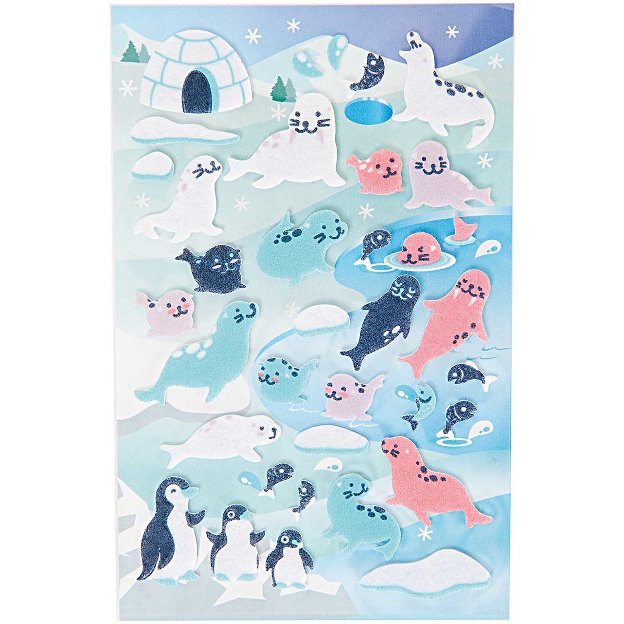 Paper Poetry Filzsticker Robben-Pinguine