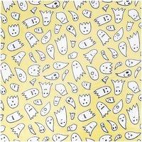 Rico Design Stoff Geister gelb-silber 140cm beschichtet