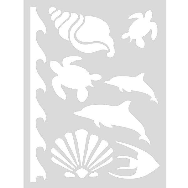 Rico Design Schablone Meer 18,5x24,5cm selbstklebend