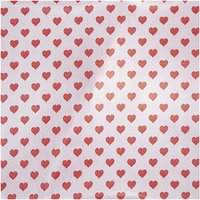 Rico Design Druckstoff Herzen rosa-rot 140cm beschichtet