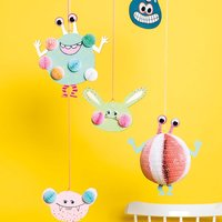 Anleitung Monster Mobile aus Wall Charms