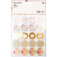 Paper Poetry Sticker Blüten 120 Stück