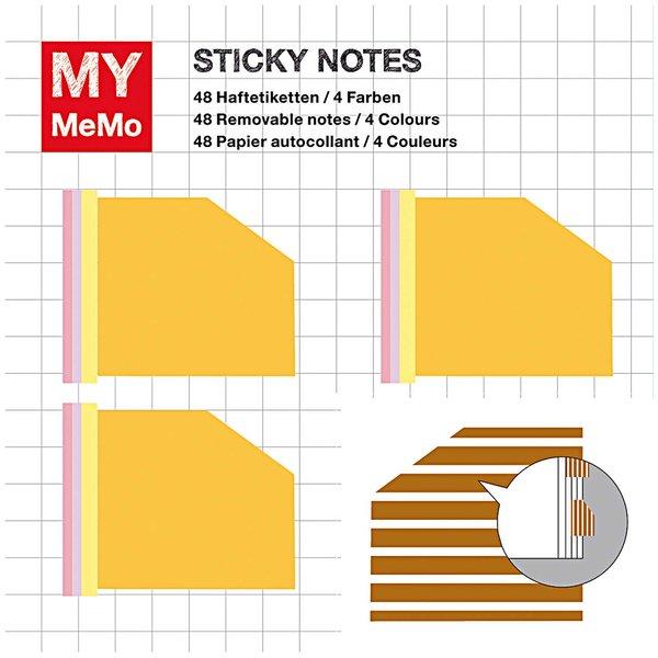 Rico Design Sticky Notes gelb 120 Stück