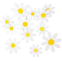 Rico Design Blüten aus Holz weiß-gelb 12 Stück