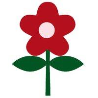 Rico Design Appliqué Blume rot 2,6x3,5cm