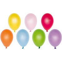 YEY! Let's Party Miniballons Wasserbomben mehrfarbig 8cm 50 Stück