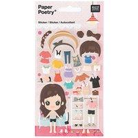 Paper Poetry Sticker Kleiderschrank Mädchen 10x19cm