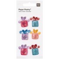 Paper Poetry Quilling Sticker Geschenke