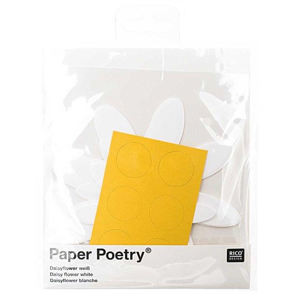 Paper Poetry Bastelset Daisyflower weiß für 6 Blüten