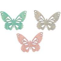 Streu Schmetterlinge pastellmix 2cm Holz 24 Stück