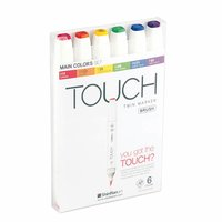 TOUCH Twin Brush Marker Main Colors 6teilig