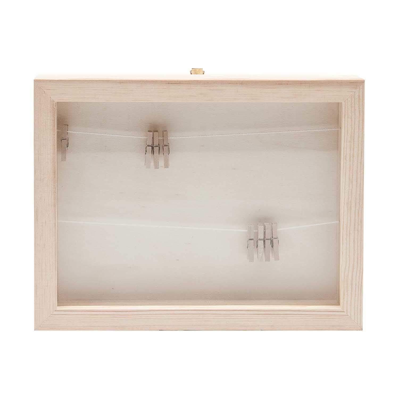 Rico Design Holz Bilderrahmen mit Fotoleine 22x17x2,5cm kaufen »