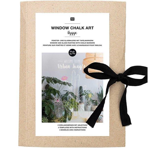 Rico Design Vorlagenmappe Fenster- und Glasmalerei mit Kreidestiften Hygge