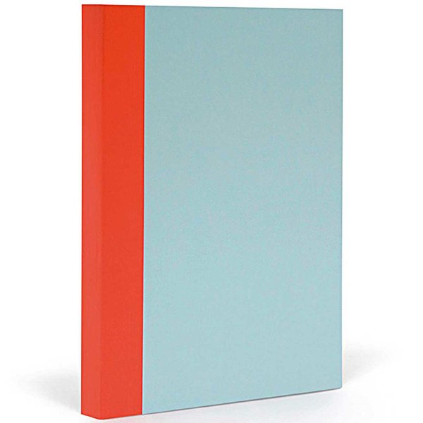 FANTASTICPAPER Notizbuch XL liniert skyblue-warmred