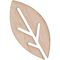 Rico Design Holzfurnier Blätter stilisiert 7x3,5cm 2 Stück selbstklebend