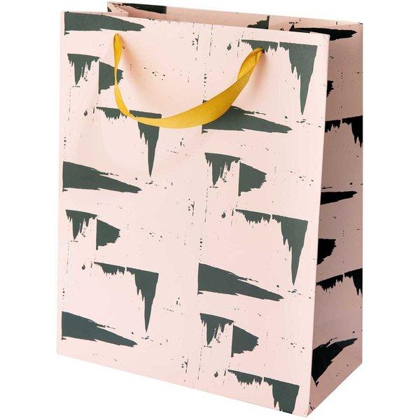 Paper Poetry Geschenktüte Struktur rosa 26x32x12cm