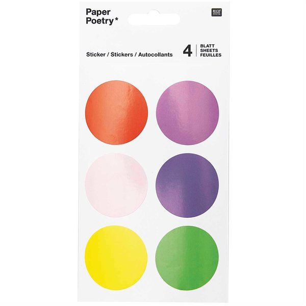 Paper Poetry Sticker Kreise bunt 24 Stück