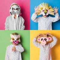 Anleitung Tierische Masken basteln