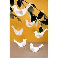 Paper Poetry Bastelset Vögel weiß 6 Stück