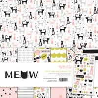 MyMindsEye Scrapbooking Paper & Accessoires Kit Meow 7teilig
