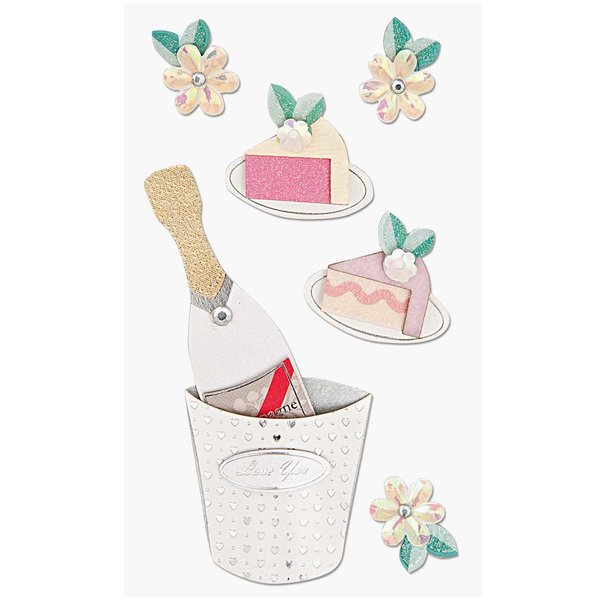 Paper Poetry 3D Sticker Champagner
